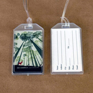 Olympic National Park Luggage Tags by Tracey Nguyen Lustre Paper Luggage Tag See America
