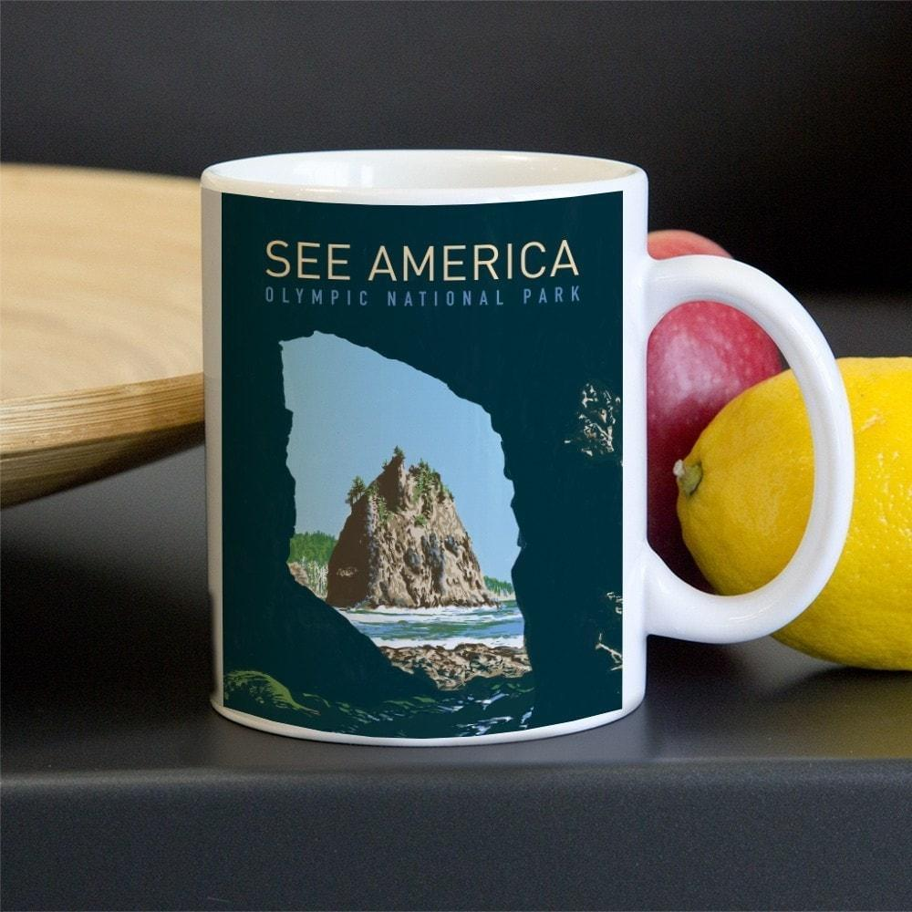 Olympic National Park Mug by Corbet Curfman