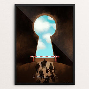 "On the Brink of Salvation 1 by Mikkel Henssel 12"" by 16"" Print / Framed Print We Were Strangers Too"
