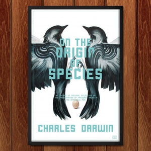"On the Origin of Species by Adam S. Doyle 12"" by 18"" Print / Framed Print Recovering the Classics"