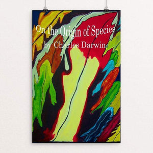 "On the Origin of Species by Ramona Mayer 12"" by 18"" Print / Unframed Print Recovering the Classics"