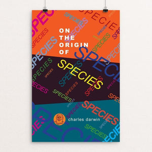 "On the Origin of Species by Robert Wallman 12"" by 18"" Print / Unframed Print Recovering the Classics"