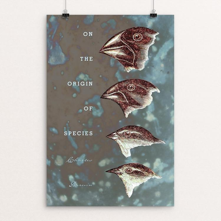"On the Origin of Species by Vivian Chang 12"" by 18"" Print / Unframed Print Recovering the Classics"