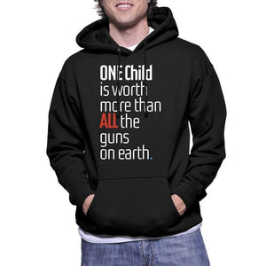 ONE Child is Worth More Hoodie by Chris Lozos