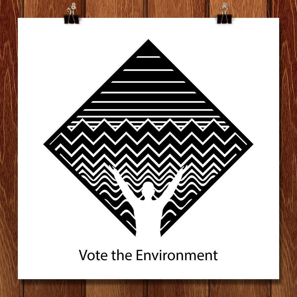 "One Vote One Environment by Eric Seremek 12"" by 12"" Print / Unframed Print Vote the Environment"