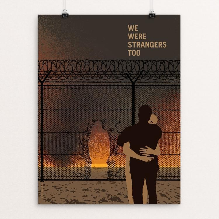 "Open Arms by Brixton Doyle 12"" by 16"" Print / Unframed Print We Were Strangers Too"