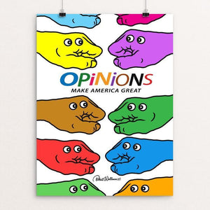 "Opinions by Robert Wallman 12"" by 16"" Print / Unframed Print What Makes America Great"
