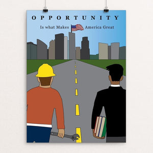 "Opportunity by Roger Alvarado 12"" by 16"" Print / Unframed Print What Makes America Great"