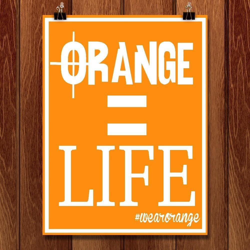 Orange Equals Life by Jeremy Monroe