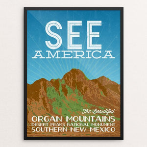 "Organ Mountains-Desert Peaks National Monument by Kern Creative 12"" by 16"" Print / Framed Print See America"