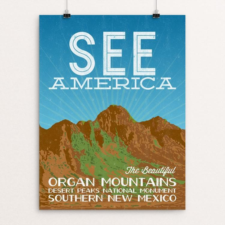 "Organ Mountains-Desert Peaks National Monument by Kern Creative 12"" by 16"" Print / Unframed Print See America"