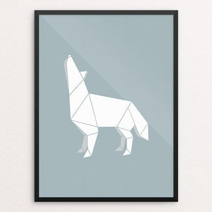 "Origami Wolf by Todd Gilloon 18"" by 24"" Print / Framed Print Join the Pack"