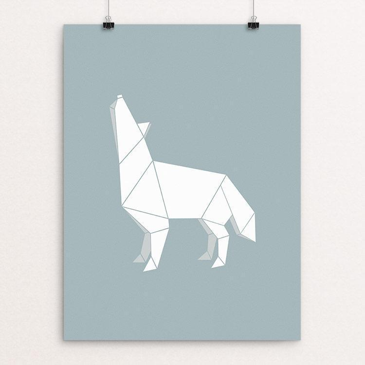 "Origami Wolf by Todd Gilloon 18"" by 24"" Print / Unframed Print Join the Pack"