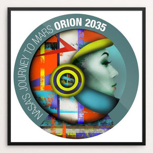 "Orion 2035 by Kevin Mcgeen 12"" by 12"" Print / Framed Print Space Horizons"