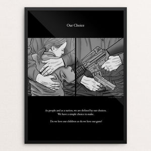 "Our Choice by Brixton Doyle 18"" by 24"" Print / Framed Print The Gun Show"