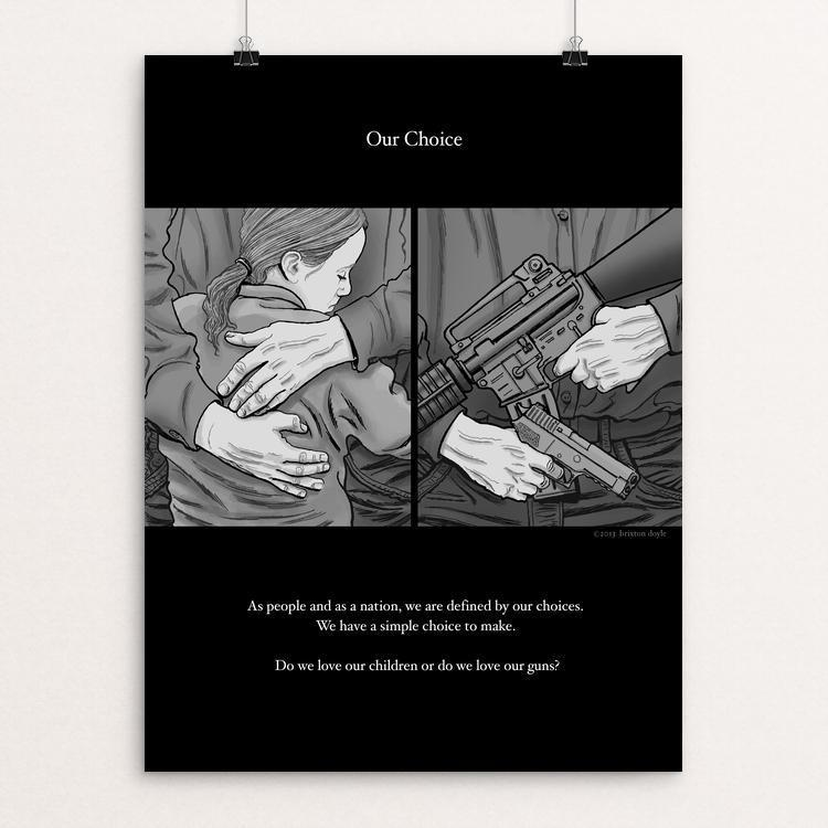 "Our Choice by Brixton Doyle 18"" by 24"" Print / Unframed Print The Gun Show"