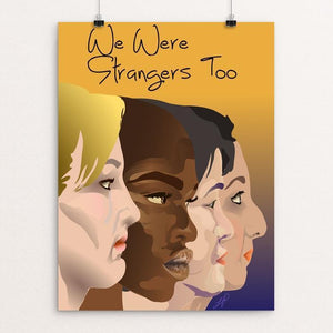 "Our Faces by Lyla Paakkanen 12"" by 16"" Print / Unframed Print We Were Strangers Too"