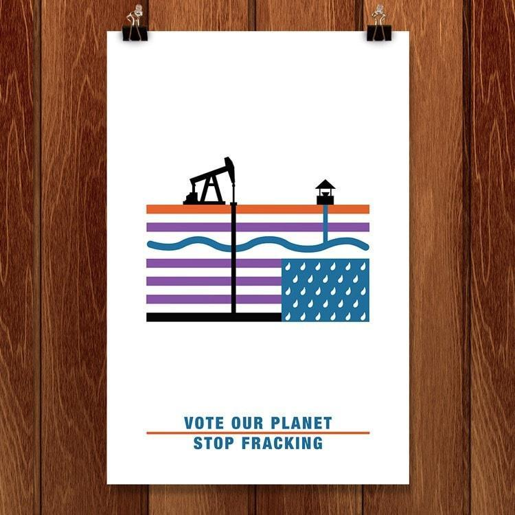 "Our Land in Crisis by Nicole Barr 12"" by 18"" Print / Unframed Print Vote Our Planet"
