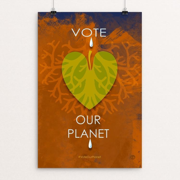 "Our Planet by Elena Ospina 12"" by 18"" Print / Unframed Print Vote Our Planet"