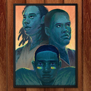 "Out of the Shadows: Jason Collins, NBA; Brittney Griner, WNBA; Michael Sam, NFL by Alyssa Winans 18"" by 24"" Print / Framed Print Transcend - Moments in Sports that Changed the Game"