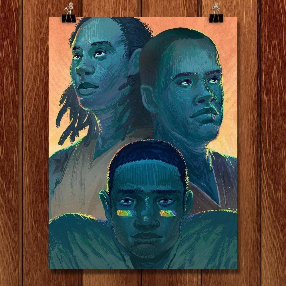 "Out of the Shadows: Jason Collins, NBA; Brittney Griner, WNBA; Michael Sam, NFL by Alyssa Winans 18"" by 24"" Print / Unframed Print Transcend - Moments in Sports that Changed the Game"