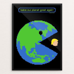 "PAC-WORLD by Mario Fuentes 12"" by 16"" Print / Framed Print What Makes America Great"