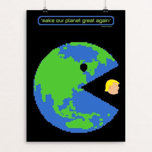 "PAC-WORLD by Mario Fuentes 12"" by 16"" Print / Unframed Print What Makes America Great"
