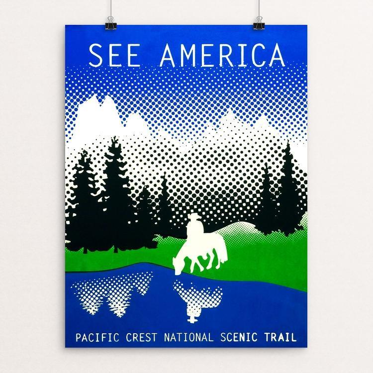 "Pacific Crest National Scenic Trail by Angela Ivy 18"" by 24"" Print / Unframed Print See America"