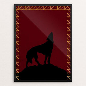 "Pack Leader by Rachael George 12"" by 16"" Print / Framed Print Join the Pack"