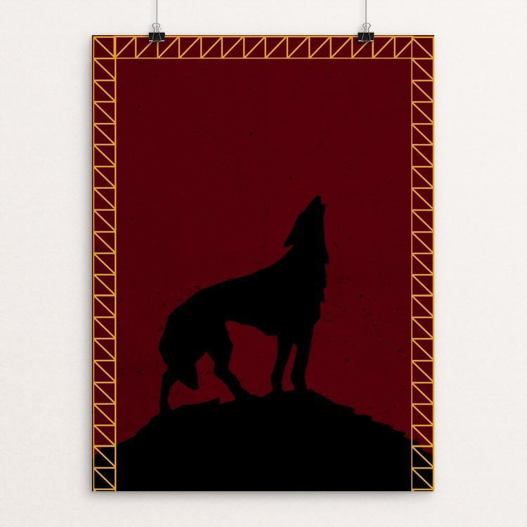 "Pack Leader by Rachael George 12"" by 16"" Print / Unframed Print Join the Pack"