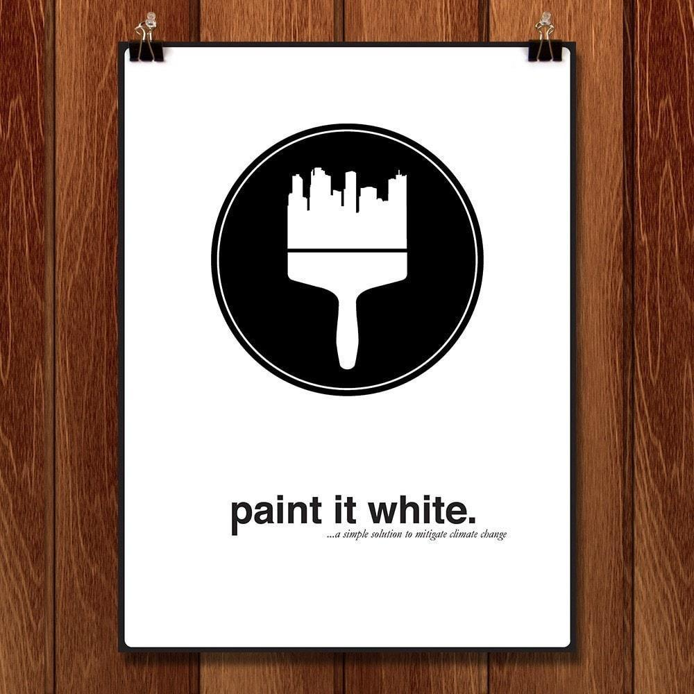 "Paint it White by Adam McBride 12"" by 16"" Print / Unframed Print Green Patriot Posters"