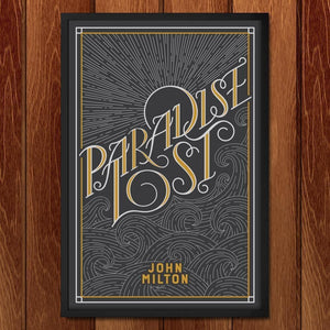 "Paradise Lost by John Coleman 12"" by 18"" Print / Framed Print Recovering the Classics"