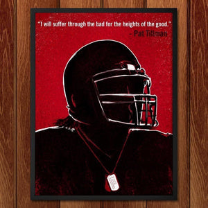 "Pat Tillman, Army Ranger by Jon Cain 18"" by 24"" Print / Framed Print Transcend - Moments in Sports that Changed the Game"