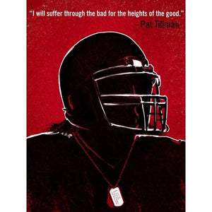 "Pat Tillman, Army Ranger by Jon Cain 18"" by 24"" Print / Unframed Print Transcend - Moments in Sports that Changed the Game"