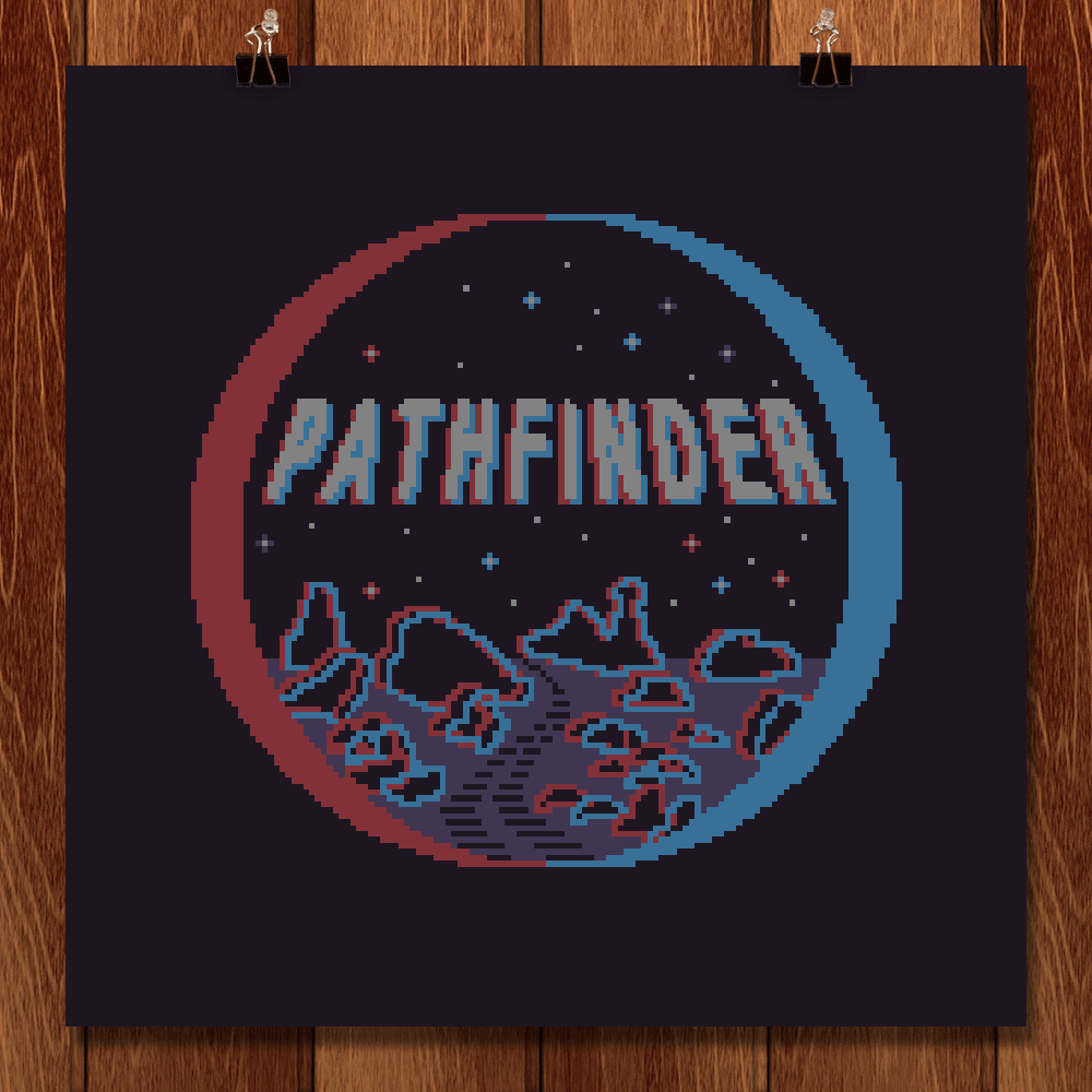 "Pathfinder by Sarajea Martin 12"" by 12"" Print / Unframed Print Space Horizons"