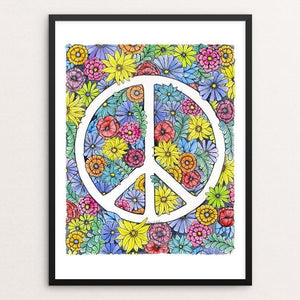 "Peace by J Clement Wall 12"" by 16"" Print / Framed Print Creative Action Network"