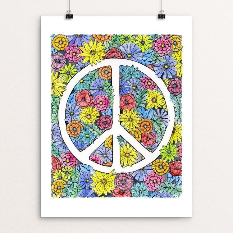 "Peace by J Clement Wall 12"" by 16"" Print / Unframed Print Creative Action Network"