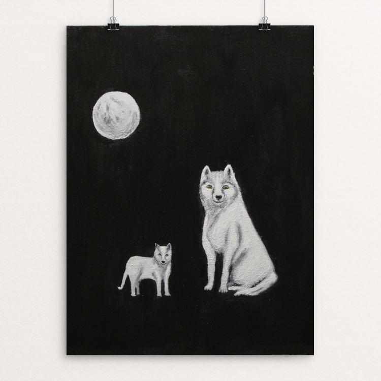 "Peace to Wolves by Judith Berg 12"" by 16"" Print / Unframed Print Join the Pack"
