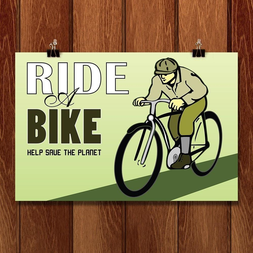 "Peddle Power by Peter 18"" by 12"" Print / Unframed Print Climate Victory"
