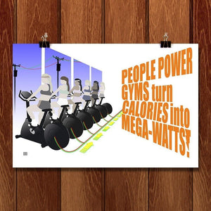"People Power Gym by Jeff Dorer 18"" by 12"" Print / Unframed Print Climate Victory"