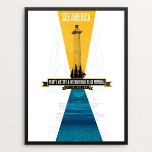 "Perry's Victory and International Peace Memorial by Joel Knueven 12"" by 16"" Print / Framed Print See America"