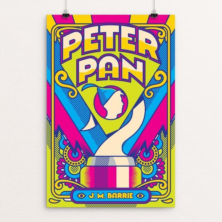 "Peter Pan by Roberlan Borges Paresqui 12"" by 18"" Print / Unframed Print Recovering the Classics"