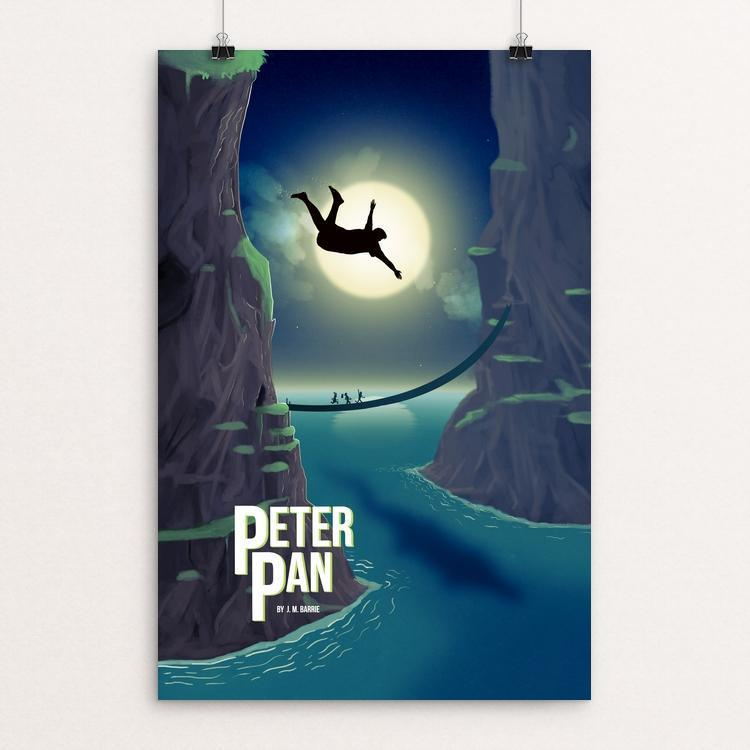 "Peter Pan by Tristan Garrett Young 12"" by 18"" Print / Unframed Print Recovering the Classics"