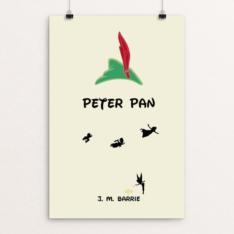 "Peter Pan by Tyler Ortiz 12"" by 18"" Print / Unframed Print Recovering the Classics"