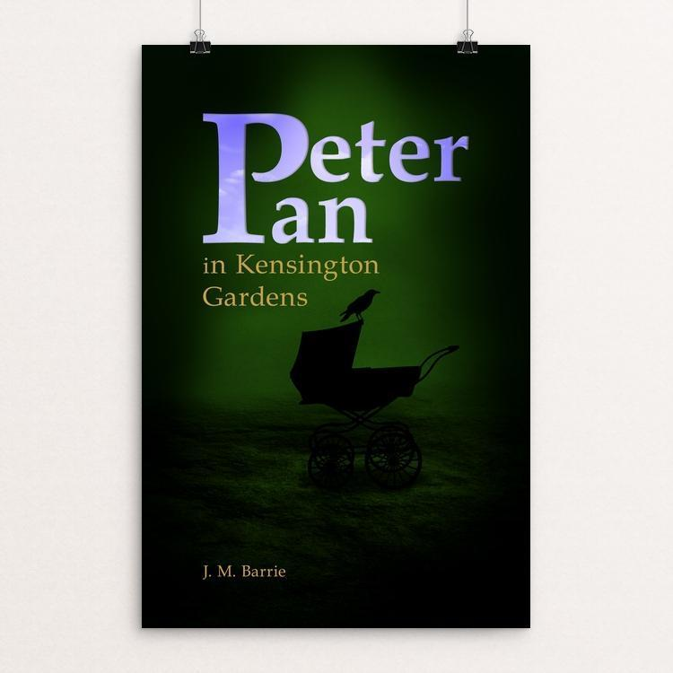"Peter Pan in Kensington Gardens by Simon Velk 12"" by 18"" Print / Unframed Print Recovering the Classics"