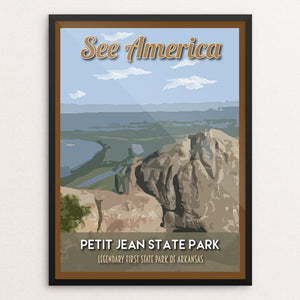 "Petit Jean State Park by Robin Rials Williams 12"" by 16"" Print / Framed Print See America"