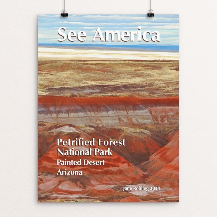 "Petrified Forest National Park 1 by Jane Rohling 12"" by 16"" Print / Unframed Print See America"