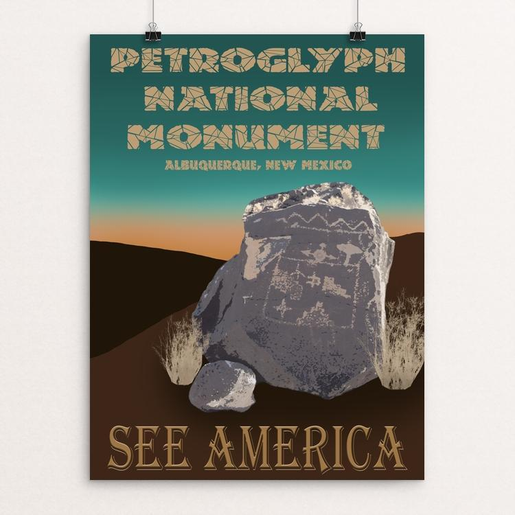 "Petroglyph National Monument by Sheri Emerson 12"" by 16"" Print / Unframed Print See America"