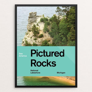 "Pictured Rocks National Lakeshore 2 by Brandon Kish 12"" by 16"" Print / Framed Print See America"