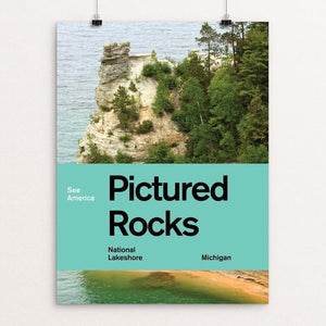 "Pictured Rocks National Lakeshore 2 by Brandon Kish 12"" by 16"" Print / Unframed Print See America"